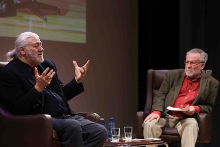 Poetics and Theatre: A conversationwith Luciano García Lorenzo and adramatised reading by Mario Gas and Ricardo Moya