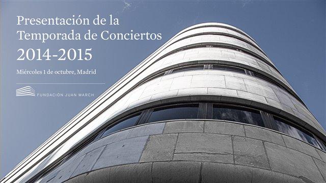 Presentación de la Temporada de conciertos 2014-15