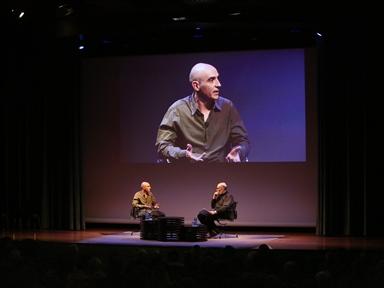 Poética y Teatro: Diálogo con Marcos Ordóñez y lectura dramatizada, a cargo de Lucía Quintana y Alfredo Sanzol, de fragmentos de obras de este último