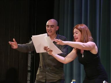 Alfredo Sanzol y Lucía Quintana
