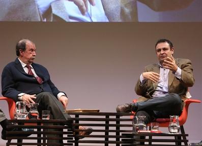 De izda. a drcha.: Andrés de Blas e Ignacio Sánchez-Cuenca