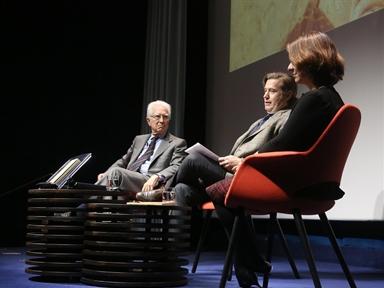 De izda. a drcha.: Rafael Atienza, Javier Gomá y Teresa Sanjurjo