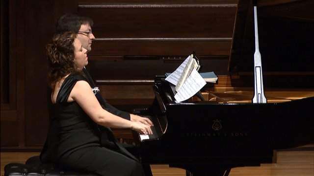 Las Danzas húngaras de Brahms, a dos pianos