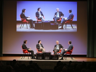 De izda. a drcha.: Íñigo Alfonso, José Ignacio Torreblanca, José María de Areilza y Antonio San José
