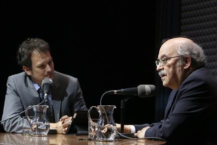 De izda. a drcha.: Íñigo Alfonso y Andreu Mas-Colell