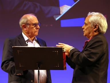 De izda. a drcha.: Emilio Gutierrez Caba y Juan Cruz