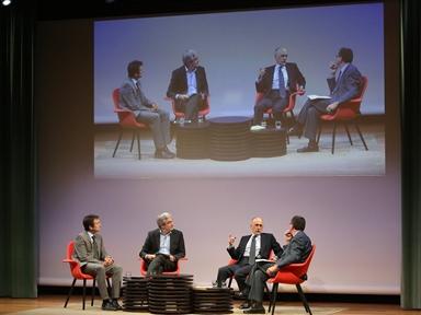 De izda. a drcha.: Íñigo Alfonso, Luis Garicano, Óscar Fanjul y Antonio San José