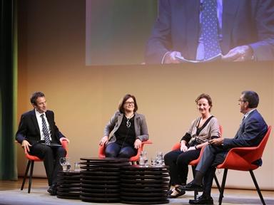 de izda. a drcha.: ïñigo Alfonso, Ruth Ferrero, Ana Planet y Antonio San José