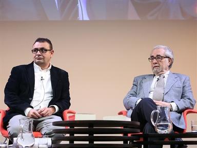 De izda. a drcha.: Ignacio Sánchez-Cuenca y Juan Antonio Ortega