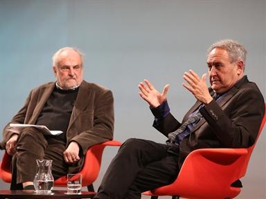 De izda. a drcha.: Juan Antonio Masoliver y Vicente Molina Foix