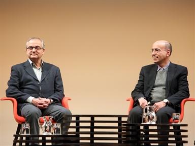 De izda. a drcha.; Ramón Vallejo y Joan Grimalt