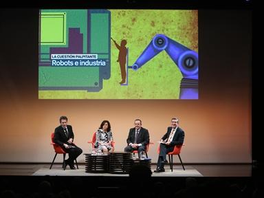 De izda. a drcha.: Íñigo Alfonso, Carmen Pérez Melguizo, Juan Carlos LLorente y Antonio San José