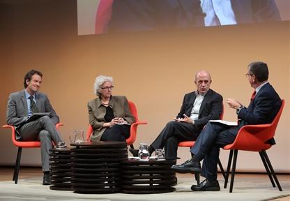 De izda. a drcha.: Íñigo Alfonso, Soledad Gallego-Díaz, José Antonio Zarzalejos y Antonio San José