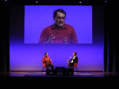 De izda. a drcha.: Joan Fontcuberta y Antonio San José