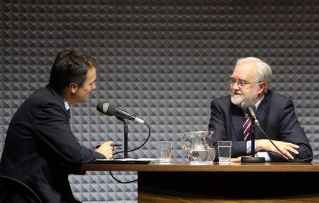 De izda. a dcha.: Íñigo Alfonso e Ignacio Bosque