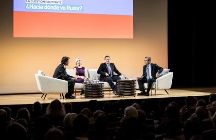 De izda. a drcha.: Íñigo Alfonso, Mira Milosevich, Nicolás de Pedro y Antonio San José