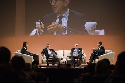 De izda. a drcha.: Íñigo Alfonso, Xavier Vidal-Folch, Javier Elorza y Antonio San José