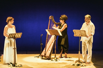 De izda. a drcha.: Lidia Otón, Sara Águeda y Ernesto Arias