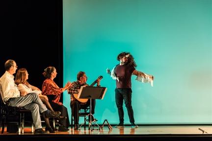 De izda. a drcha.: Alberto Romero Ferrer, Pepa Pedroche, Cecilia Lavilla Berganza, Gerardo Arriaga y Daniel Orgaz