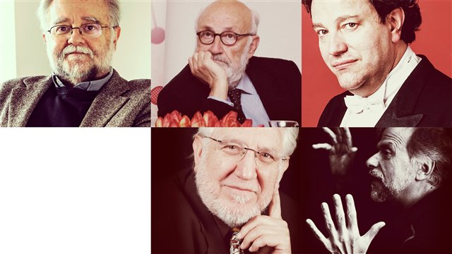 Josep Colom, Julio Martínez Calzón, Ignacio Bosque, Juan Rojo Alaminos and José Ramón Encinar