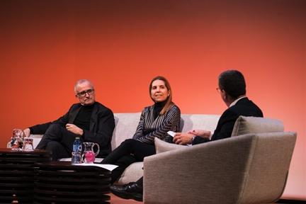 De izda. a drcha.: Ramón López de Mántaras, Nuria Oliver y Antonio San José