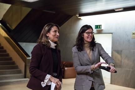 De izda. a drcha.: Lucía Franco y Oliva Rodríguez