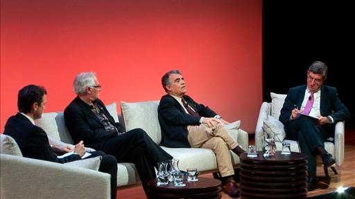 De izda. a drcha.: Íñigo Alfonso, Enrique Soria, Cayetano López y Antonio San José