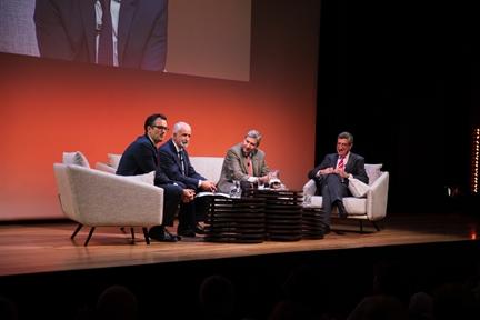 De izda. a drcha.: Íñigo Alfonso, Salvador Gutiérrez Ordóñez, José Luis García Delgado y Antonio San José