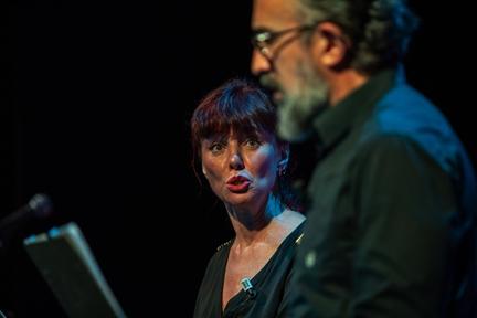 De izda. a drcha.: Manuela Paso y José Luis Martínez
