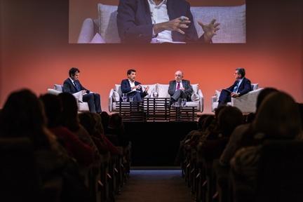 De izda. a drcha.: Íñigo Alfonso, Rafael Doménech, Joaquín Almunia y Antonio San José
