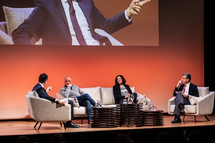 De izda. a drcha.: Íñigo Alfonso, Jorge Carrión, Rosa Belmonte y Antonio San José