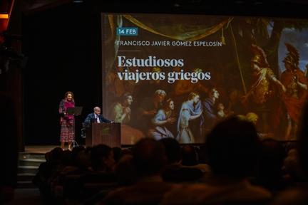 De izda. a drcha.: Lucía Franco y Luis Alburquerque García