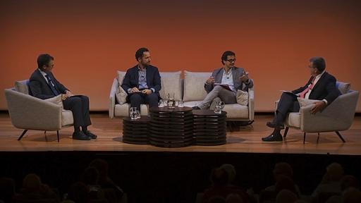 De izda. a drcha.: Íñigo Alfonso, Alejandro Romero, José Ignacio Torreblanca y Antonio San José