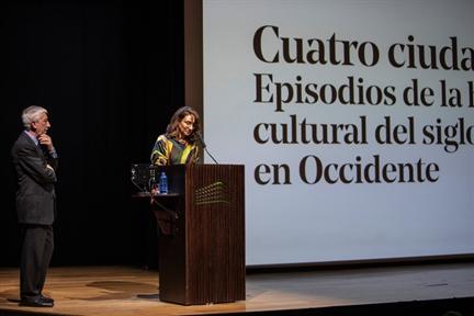 De izda. a drcha.: Luis Fernández-Galiano y Lucía Franco