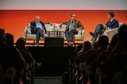 De izda. a drcha.: Juan Bordes, Manuel Fontán del Junco y Santiago de Molina