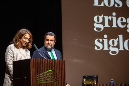 De izda. a drcha.: Lucía Franco y Miguel Ángel Elvira Barba