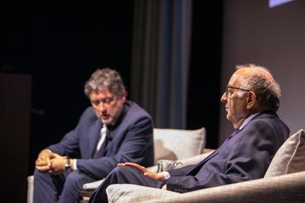 De izda. a drcha.: Manuel Peña Díaz y Ricardo García Cárcel