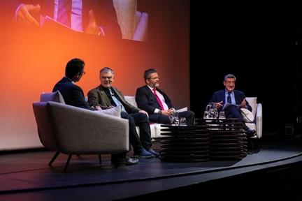 De izda. a drcha.: Íñigo Alfonso, Joseph Weiler, Miguel de Lucas y Antonio San José