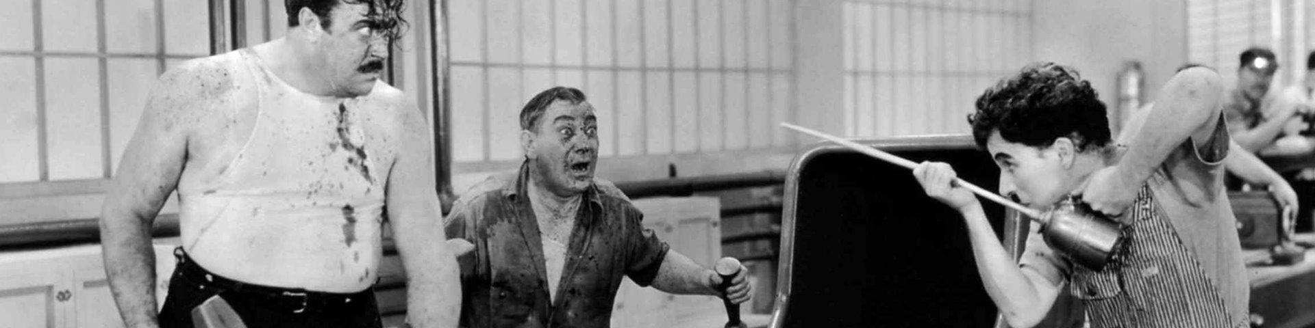 """""""Tiempos modernos"""" (1936) de Charles Chaplin"""