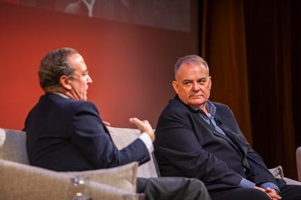 De izda. a drcha.: Manuel Fontán del Junco y Eugenio Carmona