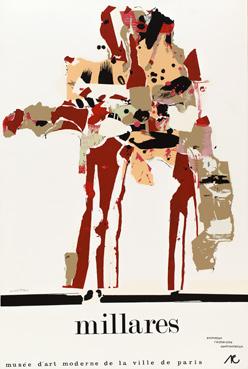 Manolo Millares, cartel de la exposición 'Millares', held at the Musée d'Art Moderne de la Ville de Paris in 1971