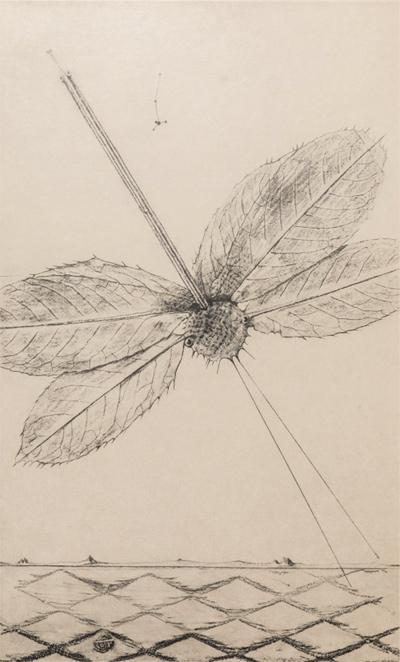 """""""Max  Ernst  les  éclairs  au-dessous  de  quatorze  ans"""" - Max Ernst. Colección particular"""