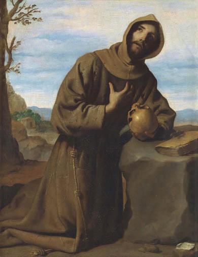 """Francisco de Zurbarán. """"San Francisco en oración"""", 1659"""