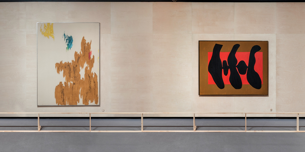 <kbd>Clyfford Still. Untitled, 1966. Private collection</kbd> <kbd>Robert Motherwell. <em>La Danse II</em>, 1952. The Metropolitan Museum of Art, New York</kbd>