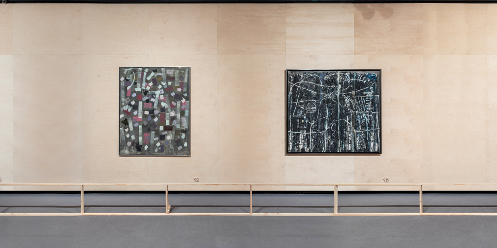 <kbd>Bradley Walker Tomlin. <em>No. 4, 1952-53</em>, 1952-1953. The Frances Lehman Loeb Art Center, Vassar College, Poughkeepsie, Nueva York</kbd> <kbd>Richard Pousette-Dart. <em>Night World</em> [Mundo nocturno], 1948. Colección Joanna y Jonathan Pousette-Dart</kbd>