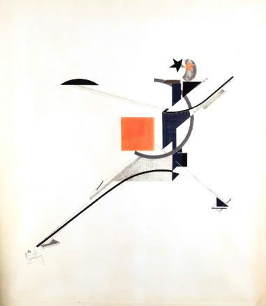 El Lissitzky, 'Neuer (New Man)'  [El hombre nuevo], 1923. Colección particular, Madrid