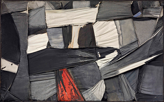 "Salvatore Scarpitta. ""Trapped Canvas"" [Lienzo atrapado], 1958"