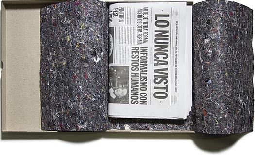 """Portada del periódico """"LO NUNCA VISTO. De la pintura informalista al fotolibro de postguerra [1945-1965]"""""""