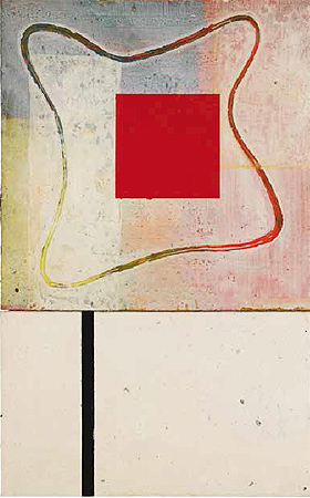"""Red Frame Flower"" [Rojo marco flor], 1986"