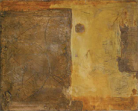 """Color terrós sobre fons groguenc"" [Earth Color on Yellowish Background], 1954-1955"